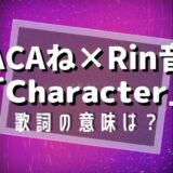 ACAね×Rin音『Character』歌詞の意味は?